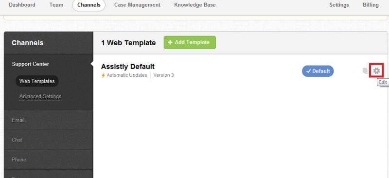 Web template for Desk.com