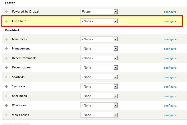 Configure live chat on Drupal - HelpOnClick