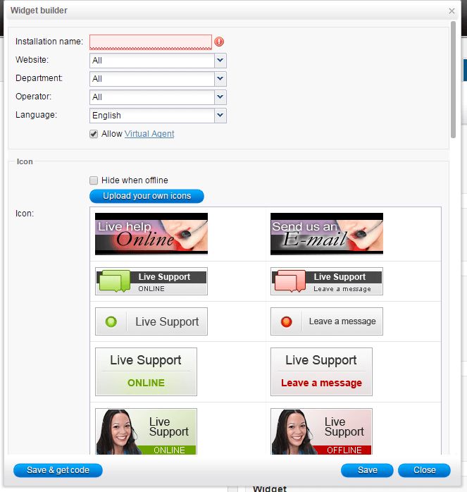 Live chat icons - HelpOnClick